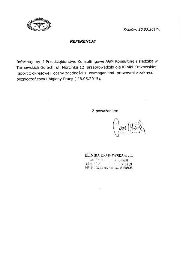 Referencje Klinika Krakowska